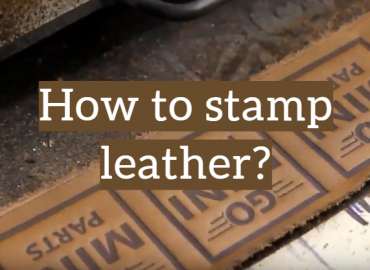 How to stamp leather?