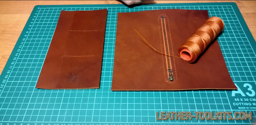 Make leather wallet