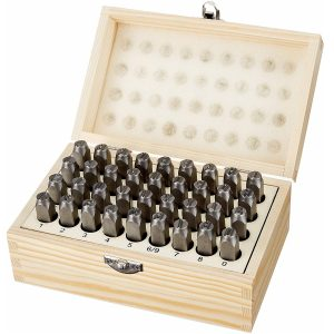 AmazonBasics Metal and Leather Stamp Kit (5/16-Inch)