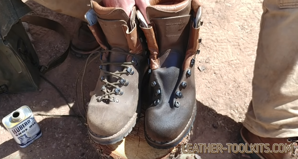 oiling work boots