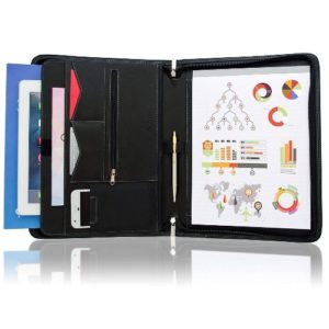 STYLIO Zippered Padfolio
