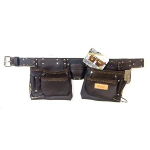 McGuire-Nicholas 10-Pocket Full Grain Leather Nail & Tool Apron Carpenter Belt