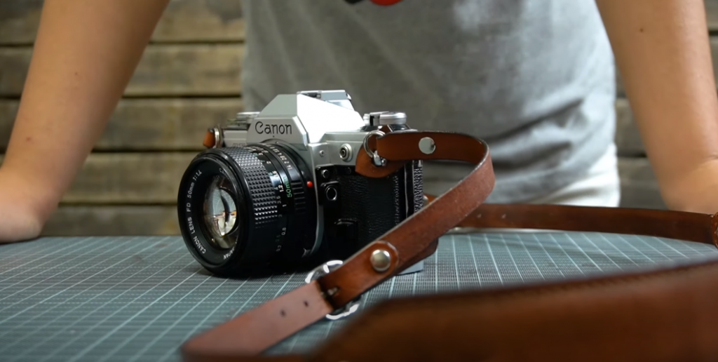 Universal leather camera strap