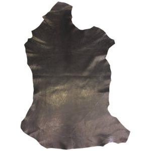 Black Leather Hide - Spanish Full Skin - Rustic Finish