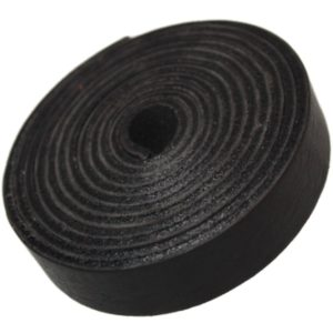 TOFL Leather Strap Black 5/8 Inch Wide