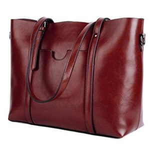 YALUXE Leather Tote Work Women