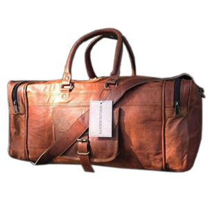 25 Inch Large Leather Duffel Travel