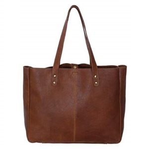 KomalC Genuine Soft Chicago Buff Leather Tote Bag Elegant Shopper Shoulder