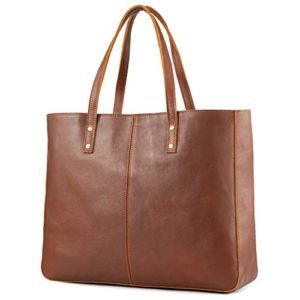 Kattee Genuine Cow Leather Tote Bag Vintage