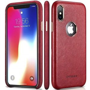 iPhone X Red Leather Case – Premium Leather iPhone X Case