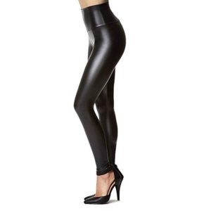 Womens Stretchy Faux Leather Leggings Pants