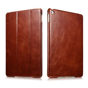 icarercase Vintage Series Leather Folio Flip Magnetic Latch Kickstand Case