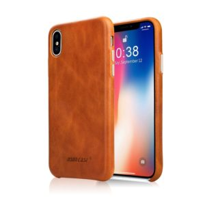 iPhone X Leather Case, Jisoncase for Apple iPhone X Genuine Leather