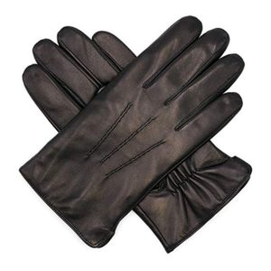 Harssidanzar Mens Luxury Italian Sheepskin Leather Gloves