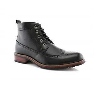 Ferro Aldo Michael MFA806278 Mens Casual Wing Tip Perforated Mid-Top Brogue Boots