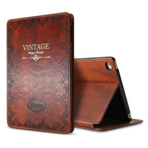 iPad Air 2 Vintage Brown BOOK Type Leather Case Flip Cover