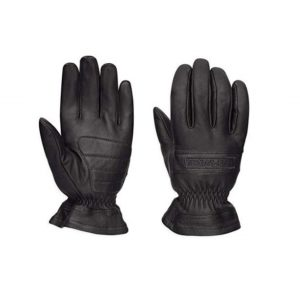 Harley-Davidson Official Mens Commute Leather Gloves, Black