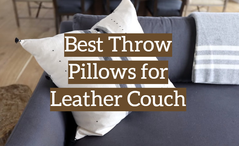 Throw Pillows For Leather Couch, What Kind Of Throw Cushions For A Leather Sofa