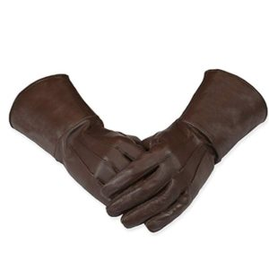 Medieval Gauntlet Leather Cosplay Gloves Long arm Cuff