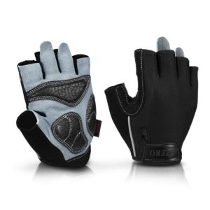 OZERO Bike Cycling Gloves Shockproof Gel Pads and Extra Grip Leather Palm