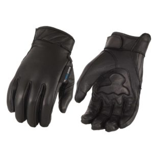 Leather Gloves with Gel Palm, Cool Tec Tech - Touch Screen Fingers
