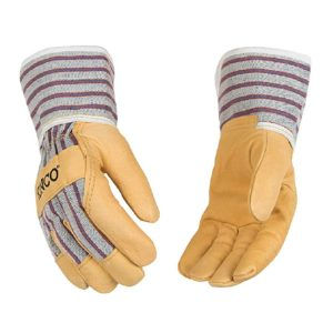 Kinco Youth Grain Leather Palm with Safety Cuff Glove