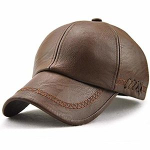 MAOTE Mens Vintage PU Leather Baseball Cap Windproof Warm Outdoor Sports Driving Hats