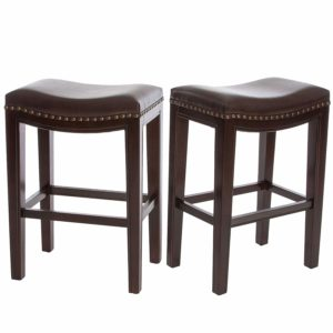 Christopher Knight Home Jaeden Backless Faux Leather Counter Stool