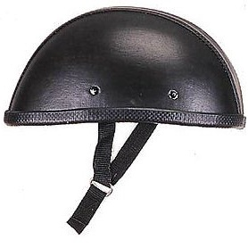 Novelty Leather Cover Eagle Motorcycle Helmet Black Low Profile