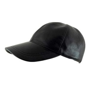 Ha Gs Adjustable Genuine Leather Baseball Cap