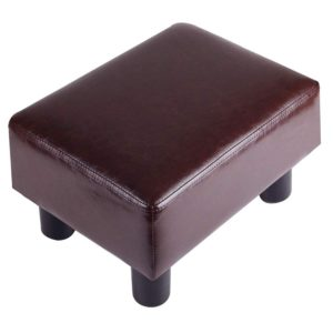 TOUCH-RICH Footrest Small Ottoman Stool PU Leather Modern Seat Chair Footstool