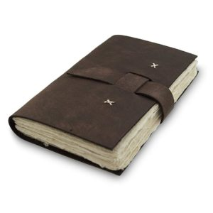 Nepali Traveler Leather Journal