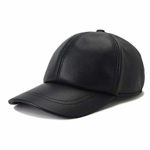 VEMOLLA Baseball Cap Genuine Sheepskin Adjustable Unisex Leather Baseball Hats