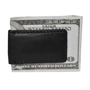 Mens New Leather Strong Magnetic Money Clip