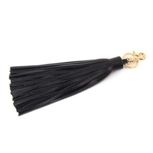 J&S Leather Tassel Charm for Womens Handbag Accessories