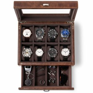 TAWBURY Leather Watch Box for Men