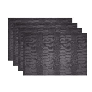 Jovono Faux Leather Hardboard Placemats, Set of 4