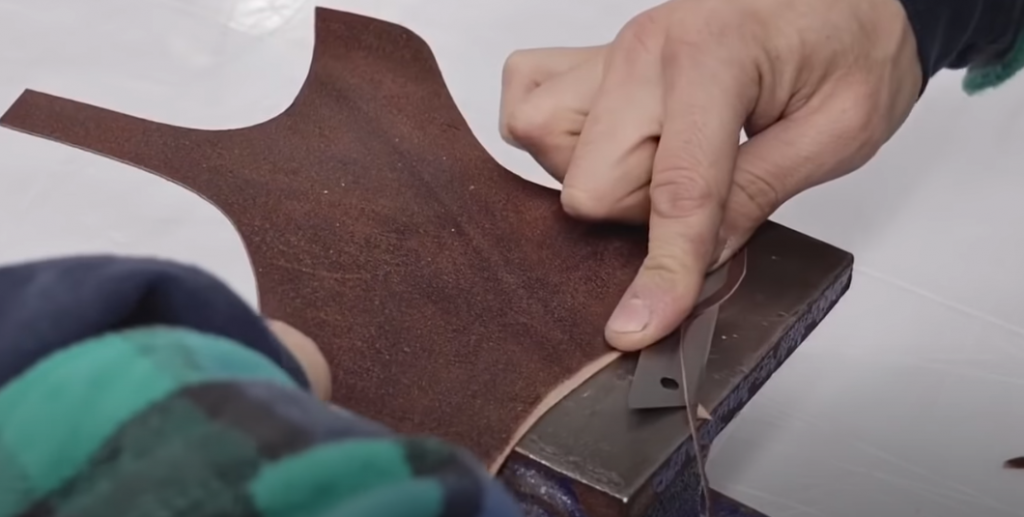 What is full-grain pigmented leather?