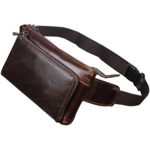 Hebetag Leather Fanny Pack Waist Bag
