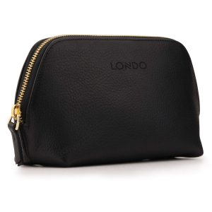 Londo Genuine Leather Makeup Bag Cosmetic Pouch Travel Organizer Toiletry Clutch