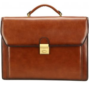 Banuce Vintage Leather Mens Briefcase Lawyer Business Bags Lock Attache Case Tote Handbags Shoulder Messenger
