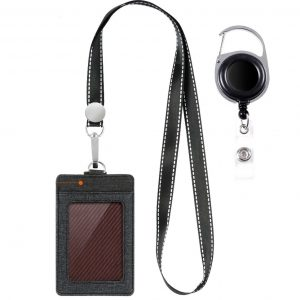 Life-Mate Badge Holder - Leather ID Card Holder Wallet Case