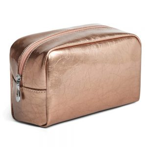 Makeup Bag, PU Leather Cosmetic Bag Clutch Make-up Pouch Waterproof Toiletries Bag