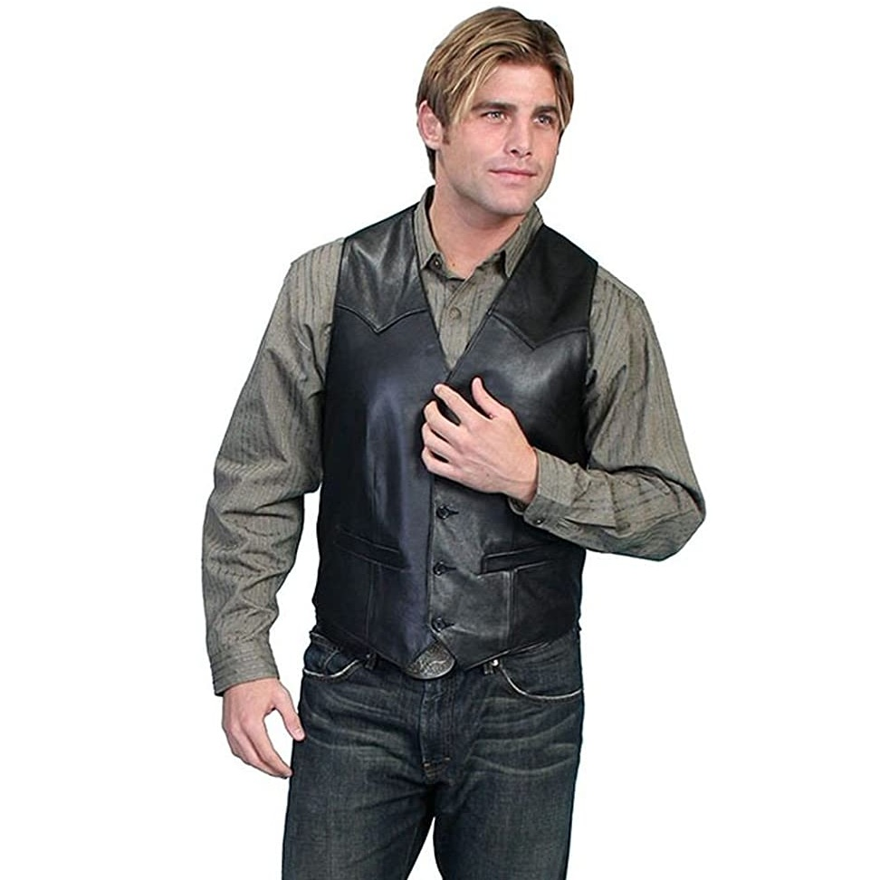 Scully Mens Lamb Leather Vest